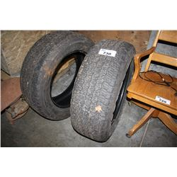 TWO GOODYEAR WRANGLER ALL TERRAIN 275/55R20 TIRES