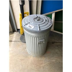 METAL TRASH BIN WITH LID