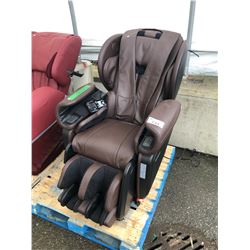 APEX BROWN ZERO GRAVITY FULL BODY MASSAGE CHAIR - AS-IS/NEEDS REPAIR