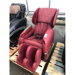 RED BEST MASSAGE ZERO GRAVITY FULL BODY MASSAGE CHAIR - AS-IS/NEEDS REPAIR