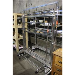 7 ASSORTED METAL CLOTHING RACKS