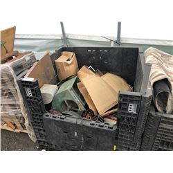 BIN OF ASSORTED ESTATE GOODS (BIN NOT INCLUDED)