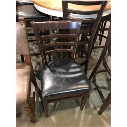 CHERRY WOOD FRAMED PADDED RESTAURANT CHAIR