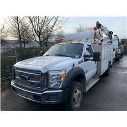 2012 FORD F-550 XLT SUPER DUTY, 2DR SERVICE TRUCK, VIN# 1FDUF5HTXCEA84505