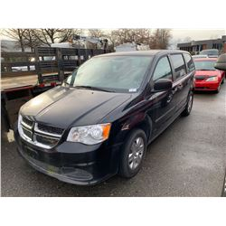 2012 DODGE GRAND CARAVAN, 4DR, BLACK, VIN # 2C4RDGBG4CR418912