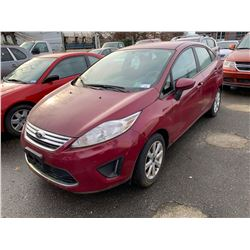 2011 FORD FIESTA, 4DR SEDAN, RED, VIN # 3FADP4BJ2BM163636