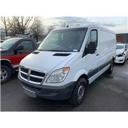 2007 DODGE SPRINTER 2500CRD, 3DR VAN, WHITE, VIN # WD0BE745X75174686