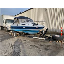 1989  20FT BAYLINER CAPRI 2.3L INBOARD, CUDDY, COMES WITH MAXIM BOAT TRAILER HAUL # BL3C50CKK889