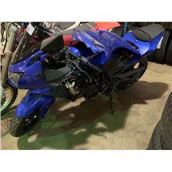 2009 KAWASAKI MOTORCYCLE, BLUE, VIN # JKAEXMJ179DA21611