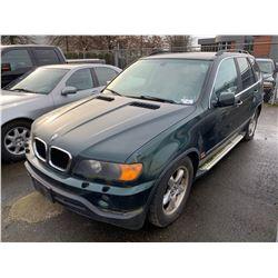 2003 BMW X5, 4DR SUV, GREEN, VIN # 5UXFB33523LH47083