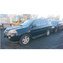 2006 ACURA MDX, BLACK, GAS, AUTOMATIC, VIN#2HNYD18616H502035, 141,411MILES,