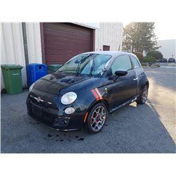 2014 FIAT 500, BLACK, HATCHBACK, GAS, AUTOMATIC, VIN#3C3CFFBR8ET195225, 173,253KMS,