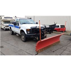2008 FORD F350 SUPERDUTY, DIESEL, AUTOMATIC, VIN#1FTWF31R68ED22034, 147,506KMS, HAS WESTERN PROPLUS