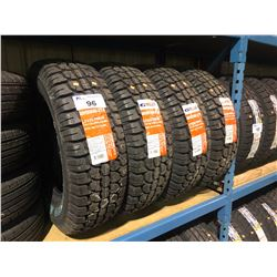 4 GT RADIAL ADVENTURO A/T II LT225/75R16 115/112S 10 PR/L.R.E OWL TIRES **$5/TIRE ECO-LEVY WILL BE C