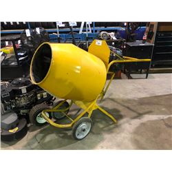 YELLOW HONDA GAS POWERED MOBILE CEMENT MIXER