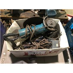 2 ELECTRIC ANGLE GRINDERS & PARTS