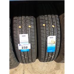 2 CARLISLE LRE RADIAL ST235/80R16 HIGHWAY TRAILER TIRES **$5/TIRE ECO-LEVY WILL BE CHARGED**