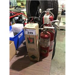 7 ASSORTED FIRE EXTINGUISHERS