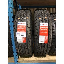 2 GT RADIAL SAVERO HT2 LT225/75R16 115/112R TIRES **$5/TIRE ECO-LEVY WILL BE CHARGED**