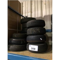 13 ASSORTED DOLLIE TIRES