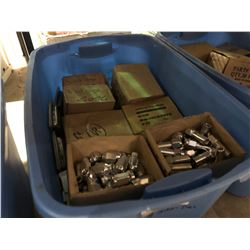 BLUE BIN OF ASSORTED LUG NUTS & LUG NUT SETS