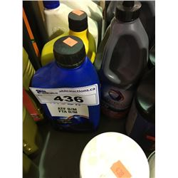 14 BOTTLES OF ASSORTED OIL & GEAR OIL