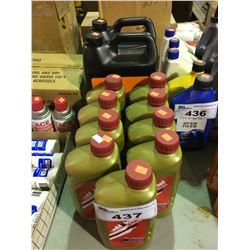 11 BOTTLES OF TRANSMISSION FLUID & OIL