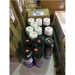 19 BOTTLES OF PENETRATING OIL, ENGINE SPRAY & SPRAY PAINT