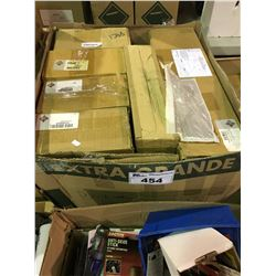 LARGE BOX OF ASSORTED INTERNATIONAL HEAVY TRUCK FILTERS