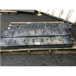 PALLET OF RUBBER SNOWPLOW BLADE BUMPERS
