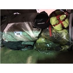 INFLATABLE MATTRESS, BLANKET, SLEEPING BAGS AND MISC