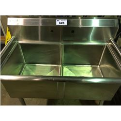 STAINLESS STEEL DUAL BAY COMMERCIAL SINK