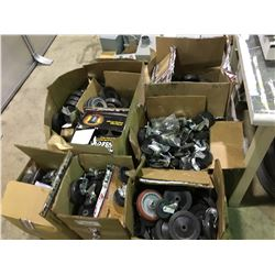 PALLET OF ASSORTED INDUSTRIAL CASTERS