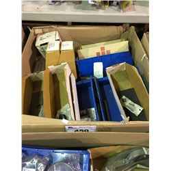 LARGE BOX OF ASSORTED TRUCK PARTS & HARDWARE