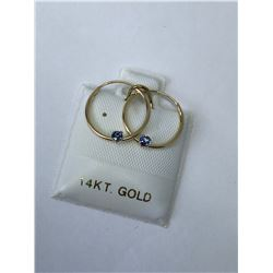 14KT. GOLD SAPPHIRE (0.15CT) EARRINGS