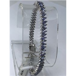 STERLING SILVER TANZANITE (8.70CT) BRACELET