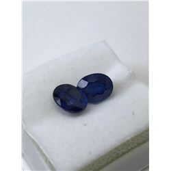GENUINE ENHANCED BLUE SAPPHIRES (APPROX 6CT) (9X7MM)