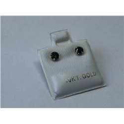 10KT. GOLD SAPPHIRE (0.65CT) EARRINGS