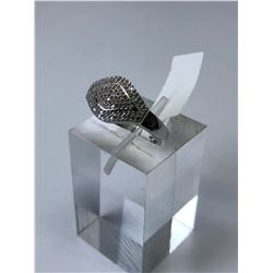 STERLING SILVER NATURAL DIAMOND (0.70CT) RING