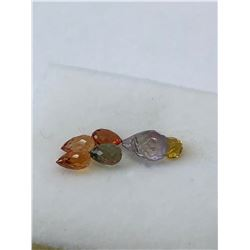 GENUINE FANCY COLOUR SAPPHIRE (SEPT. BIRTH STONE) (APPROX. 3CT) (COLOURS MAY VARY).