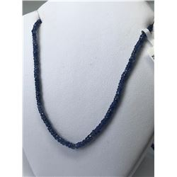 14KT. GOLD ENHANCED NATURAL SAPPHIRE (25CT) NECKLACE (16INCH)