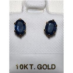 10KT GOLD SAPPHIRE(1.1CT) EARRINGS