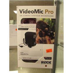 RODE VIDEOMIC PRO ON-CAMERA SHOTGUN MICROPHONE