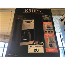 KRUPS 1-CUP GRIND & BREW COFFEE MAKER