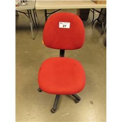 RED ROLLING OFFICE CHAIR