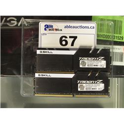 2X G. SKILL 8GB 3200 MHZ DDR4 RAM MODULES