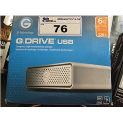 6TB G-DRIVE USB HIGH-PERFORMANCE STORAGE DEVICE