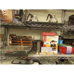 BAKINGS TRAYS, POWERADE BOTTLE, MIXING BOWLS, NON-STICK GRILLING SHEETS, SUNBEAM 4-CUP STEAM