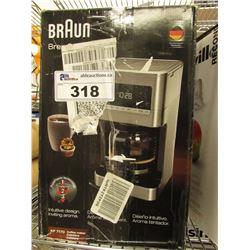 BRAUN BREW SENSE COFFEE MACHINE