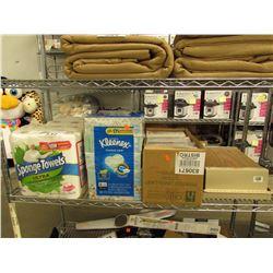LOT OF PAPER TOWELS, KLEENEX, MISC